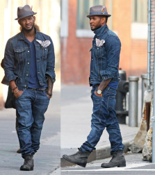 Denim is the perfect accessory to dressing to impress. It doesn't hurt to have Usher's swag in those jeans either.