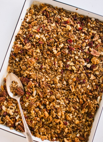 Mixing nuts and granola are a crunchy reward for your healthy lifestyle.