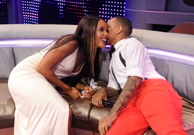 Angela Simmons and Bow Wow at 106 & Park, May 24, 2013. (photo: John Ricard / BET)