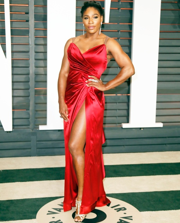 Tennis player Serena Williams arrives at the 2015 Vanity Fair Oscar Party in Beverly Hills, California February 22, 2015. REUTERS/Danny Moloshok (UNITED STATES - Tags:ENTERTAINMENT) (VANITYFAIR-ARRIVALS) - RTR4QPMO