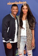 WESTWOOD, CA - JULY 16: Host Russell Wilson (L) and recording artist Ciara attend the Nickelodeon Kids' Choice Sports Awards 2015 at UCLA's Pauley Pavilion on July 16, 2015 in Westwood, California. (Photo by Jason Merritt/Getty Images)