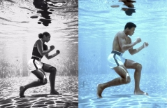 Alicia Keys teams up with photographer Brendan Forbes to recreate two of her favorite photos. This one of the great boxer Muhammed Ali.