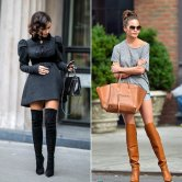 Chrissy Tiegen in over-the-knee boots