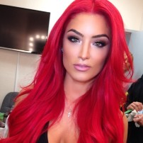 I think this WWE Diva is a classic beauty and rocks this fire engine red with confidence.