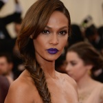 Fashion model Joan Smalls gets daring in this Ravens purple (I'm a big Baltimore Ravens fan if you couldn't tell).