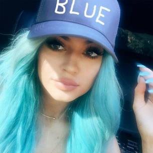 Kylie Jenner in this blue is so frosty chic...am I just hungry?