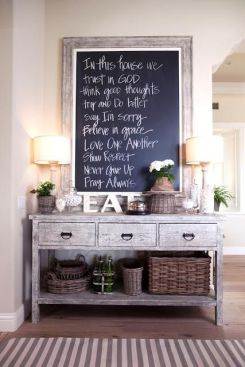 Chalkboards are the latest home design craze. Use this tool as a to-do list and you are bound to stay organized.