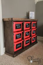 Use a massive storage piece to store kids' toys, games, clothing, etc.